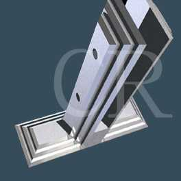 Glass mounting bracket stainless steel casting process