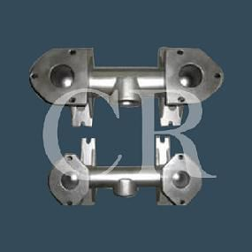 Hybrid valve casting, stainless steel valve, lostwax investment casting and machining